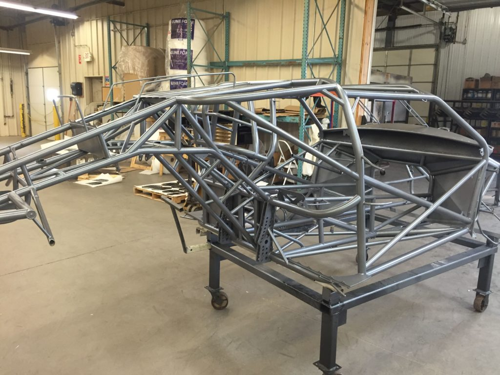 Off Road Racing frame coated in grey