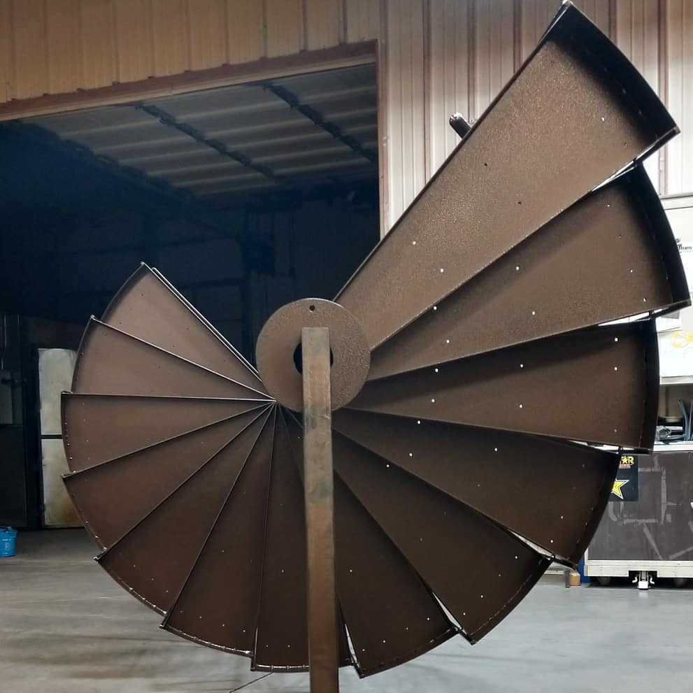 Spiral staircase coated in Copper Vein
